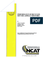 Performance of Recycled Hot Mix Asphalt Mixtures