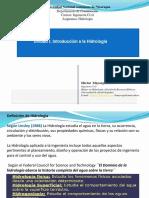 Presentación No.1 Hidrologia 2017