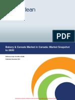 Bakery & Cereals Market in Canada- Market Snapshot to 2020