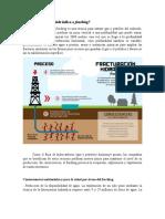 Fractura Hidráulica o Fracking