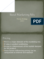 Unit 4a- Rural Pricing Strategy