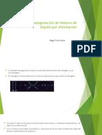 Deshidrohalogenación de Haluros de Alquilo
