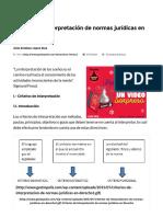 Criterios de Interpretación de Normas Jurídicas en Derecho • GestioPolis