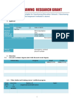 Naushawng Research Grant Application Form