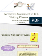 ASSESSMENT. Formative Assessment in EFL Writing Classroom