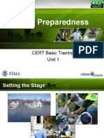 PPT CERT Unit 1 Disaster Preparedness