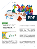 """Boletín """"Por la Democracia y la Paz"""" número 5"""