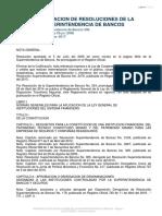 Codificación de Resoluciones de La Superintendencia de Bancos