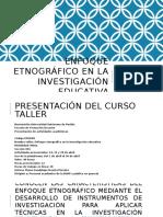 Enfoque Etnográfico en La Investigación Educativa