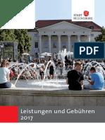 Broschüre Leistungen und Gebühren 2017