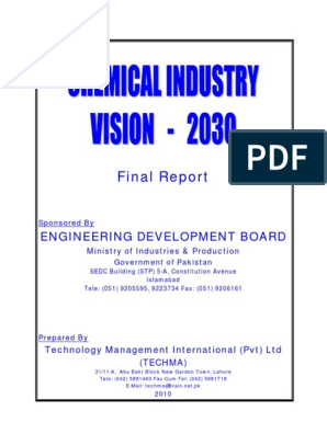chemical industry pakistan 2030 pdf | Chemical Industry | Petrochemical