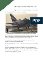 Emirates Boeing 777 Crash