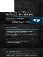 Manufacturing of Phthalic Anhydride