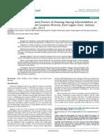 Prevalence and Associated Factors of Stunting Among Schoolchildren in Debre Markos Town and Gozamen Woreda East Gojjam Zone Amhara Regional State Ethiopia 2155 9600.S8 007
