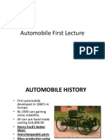 1.Automobile First Lecture