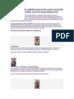 Qué Estado de Salud Representa Cada Carta Del Tarot de Marsella