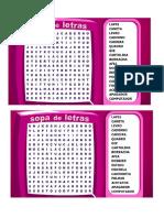 Sopa Letras Materiais Escolares Pca 16 Fev.