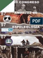 Programa de Actividades III Congreso Andaluz de Espeleología