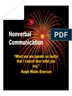 Microsoft PowerPoint - Nonverbal Communication Notes