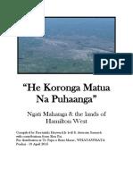 he koronga matua na puhaanga - ngati mahanga   the lands of hamilton west