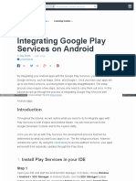 Integrating Google Play Services