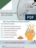 Cisco 400-151 Actual Exam Question Answers
