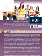 Myhelpassignment  A best assignment help provider to the student