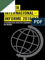 Anistia Internacional - Relatório 2016-2017