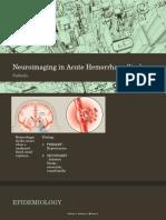 Neuroimaging in Acute Hemorrhage Stroke-REFERAT