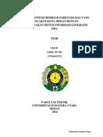 Analisis Potensi Resiko Banjir Pada Das Yang Mencakup Kota Medan Dengan Sig