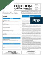 Boletín Oficial de la República Argentina, Número 33.589. 21 de marzo de 2017