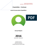 GVI Seychelles 2016 Curieuse Island Conservation Expedition Scientific Report