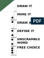 Vocabulary Dice Games