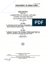 SENATE HEARING, 106TH CONGRESS - BUSINESS DEVELOPMENT OF INDIAN LANDS