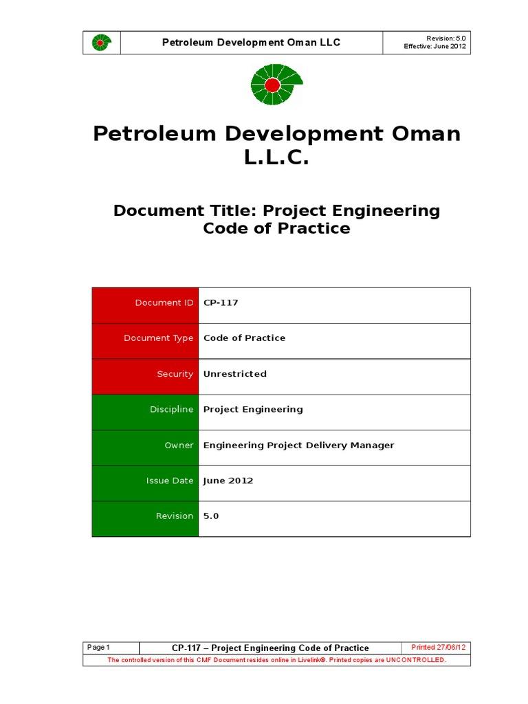 Cp 117 Project Engineering Cop Procurement Engineering