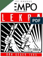 213978237 Majalah Tempo Edisi 30 September Lekra Dan Geger 1965 1