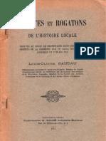 Louis Claude Saudau Miettes Et Rogatons - Extraits