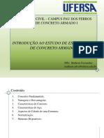 CAI-APRESENTAÇÃO 1- Introdução Ao Estudo de Estruturas de Concreto Armado