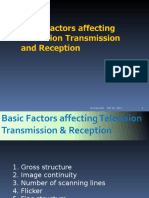 Basic Factors Affecting Television Transmission & Reception