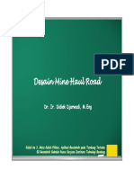 Desain Mine Hauling Road