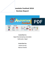 3rd Mountain Festival 2016- Review Report