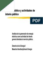 Servicio Publico y Actividades de Interes Publico