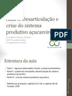 5. Desarticulação Do Sistema Produtivo Açucareiro_FEB_1q17