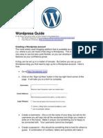 Creating a Wordpress Blog GUIDE