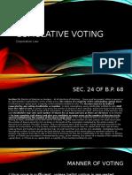 Cumulative Voting Presentation