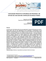 CAPACIDADE PRODUTIVA E EFICIÊNCIA DE PROCESSO