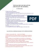 Ley de Fignale de Los Negativos Dinámicos