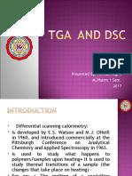 TGA  and DSC