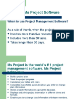 Learning Ms Project Software