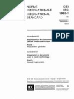 IEC 61082-1 General Requirements - Amendment 1